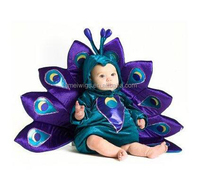 Purple Peacock mascot costume for Babies/Children in Party/Canival/Cosplay