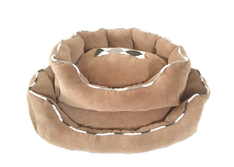 Fine corduroy dog mattress sofa luxury cheap pet bed for dog Supplier