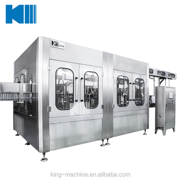 PET Bottle Water Production Washing Filling Capping Machine / Bottled Water Manufacturing Machine