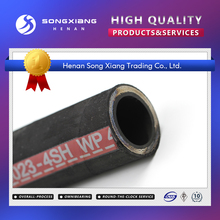 Hydraulic china stainless steel spiral high pressure flexible hose 4SH