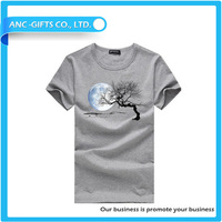 new pattern style offset printing design plain 100% cotton high quality t shirt distribution