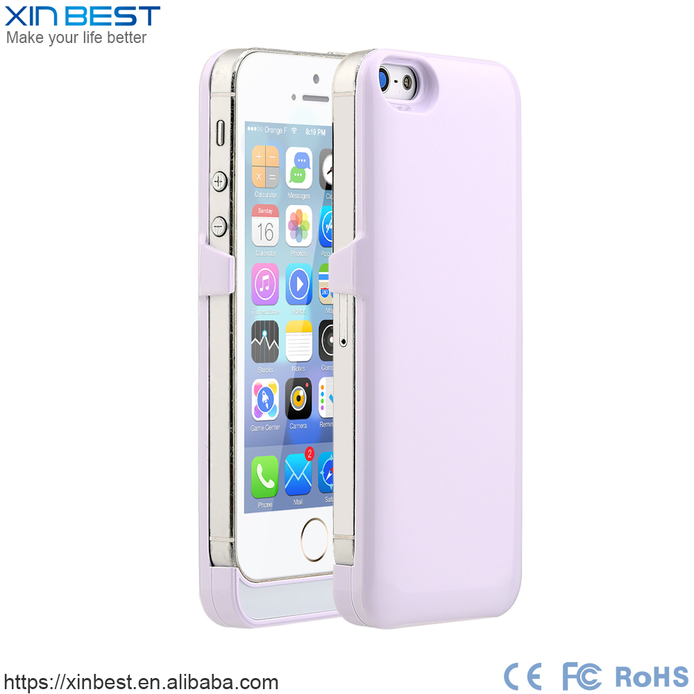Ultra slim 2200mah battery case for iPhone 5 5S SE power bank case