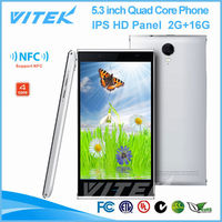 Free Android 4.4 5.3 inch Super Slim 8MP Camera 4G Mobile Phone