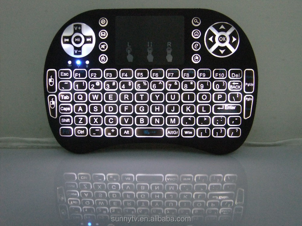 I8 and I8 Backlit keyboard RII Mini Wireless Keyboard 2.4G with touchpad Universal Remote Control
