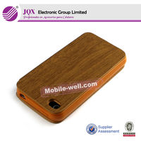 Wooden flip case for iPhone5