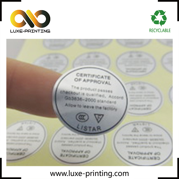 Double layer heat resistant waterproof labels cosmetic sticker