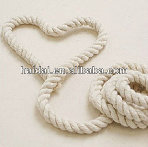 China supply 3-ply twisted cotton rope price