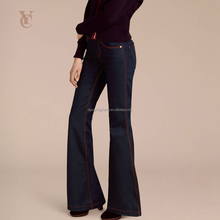 2017 Fashion Modern Women Jeans Black Bell-bottoms Trousers High Waist Pack Type Cowboy Pants for Women