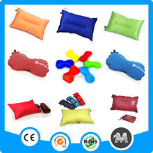 Outdoor inflatable travel folding travel neck pillow PVC square self inflating pillow