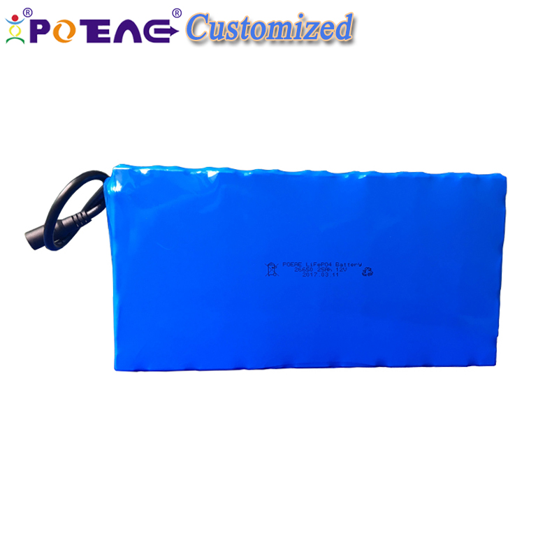 High capacity rechargeable lithium ion lifepo4 12v 12ah battery pack for model toy solar lignt