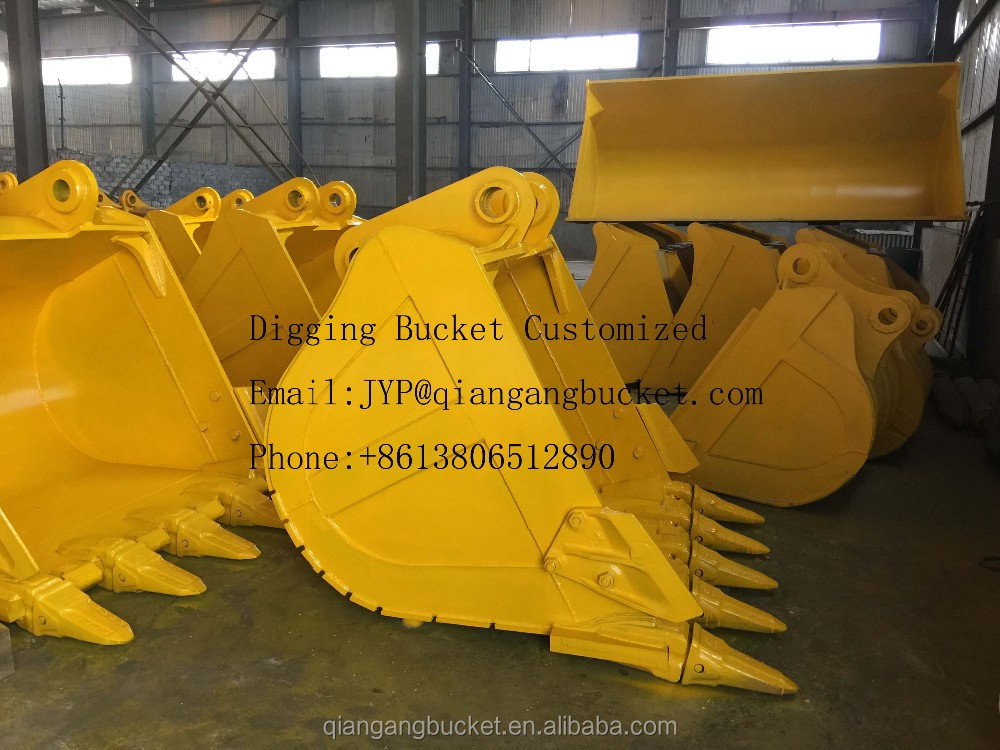Heavy equipment 330BL spare parts 1.6M3 rock digging bucket for sale