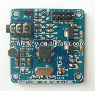 VS1003 MP3 Module supports MP3 MP3 V WMA WAV MIDI