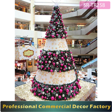 NEW exterior 6m 9m 10m 12m pre lit giant christmas tree with xmas ball decoration for shopping center