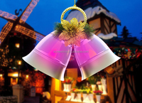ESHINE Solar Light Hanging Glass with bell shape led decoration light