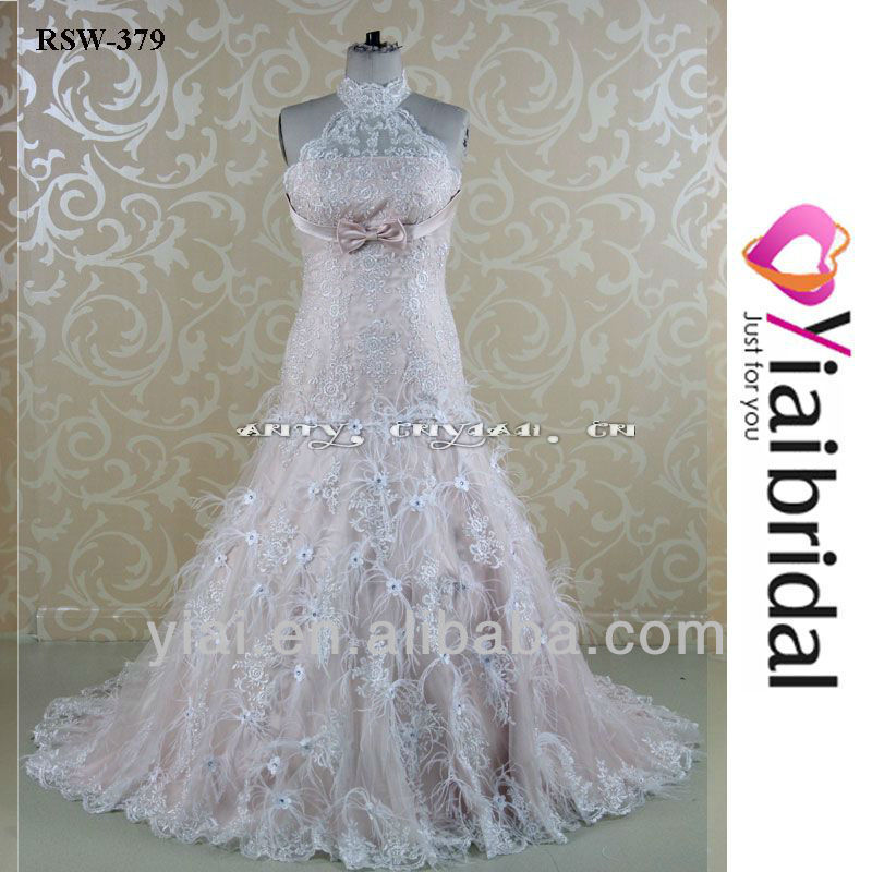 RSW379 Feathered Wedding Gowns