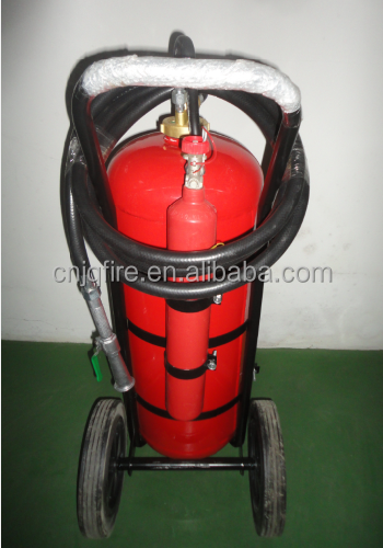 Wheeled 100KG ABC 40% Dry Powder Fire Extinguisher With External CO2 Cartridge