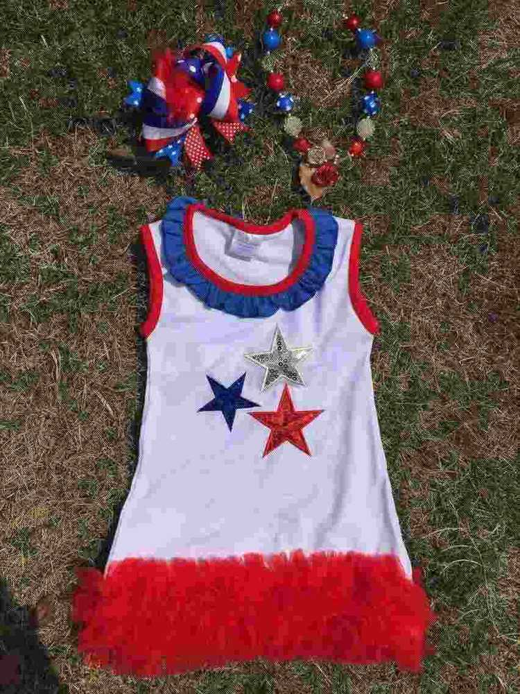 latest July 4th baby girls dress designs for girls summer 2015