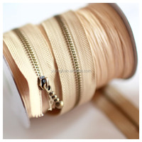 5# open end metal teeth zipper roll