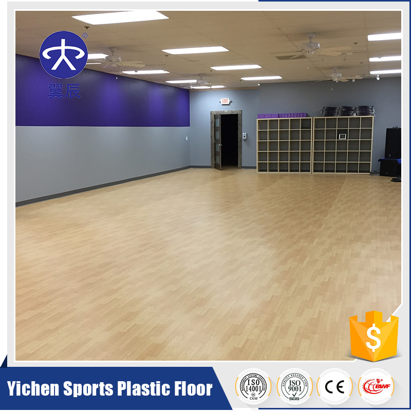 Alibaba Made In China PVC Sports Plastic Flooring Roll Used Gym Rubber Floor Mat