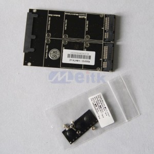 Dual Mini PCI-e intel mSATA SSD to SATA Raid Controller Card Adapter With Case