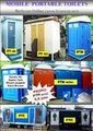 Portable toilet - WC portabel, lengkap dgn kloset jongkok,tandon air & septictank