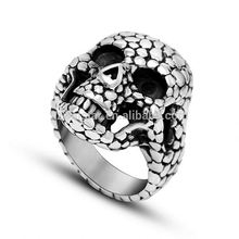 2017 New For Men Stainless Steel Fashion Punisher Skull Ring Punk Jewelry