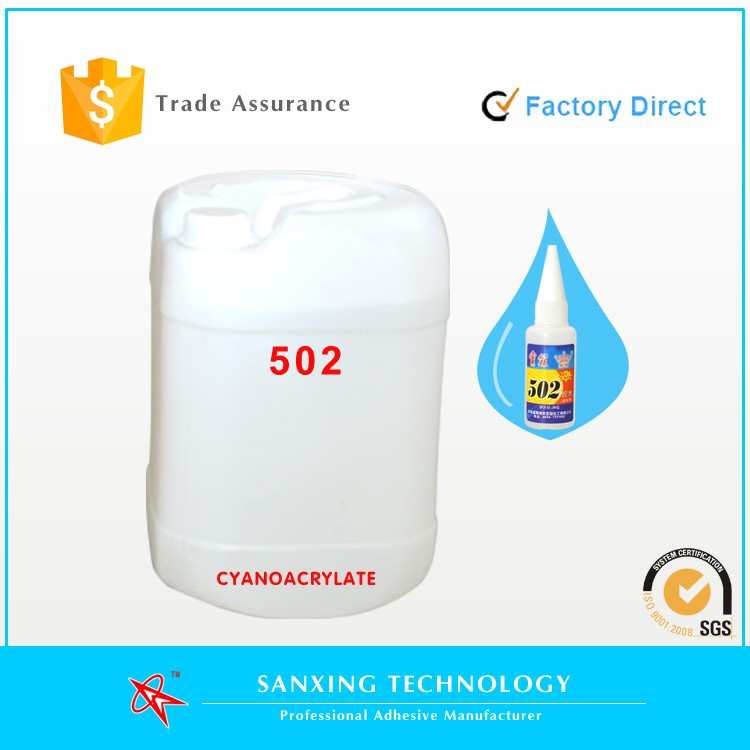 Professional factory direct wholesale 502 cyanoacrylate adhesive super glue for plastic/rubber/glass/metal/wood/plastic