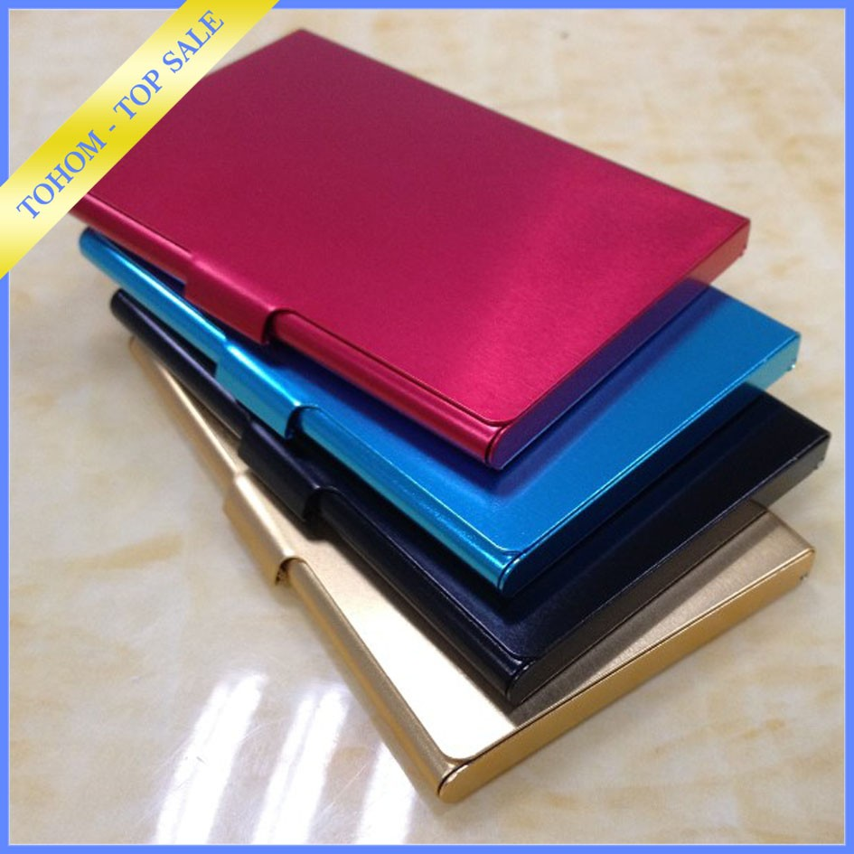 Wholesale metal name business card holders visit card case