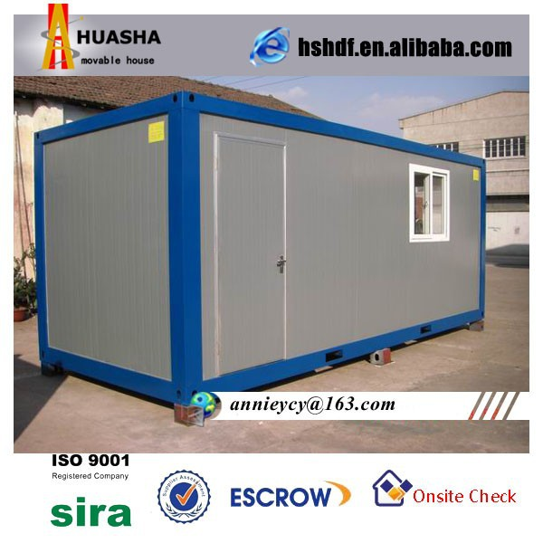 20ft Prefabricated Temporary Steel Structure Office Container Design
