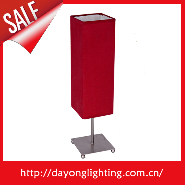 Square shaped Small size cheap Cute red table lamp T1012 table lighting for home lighting