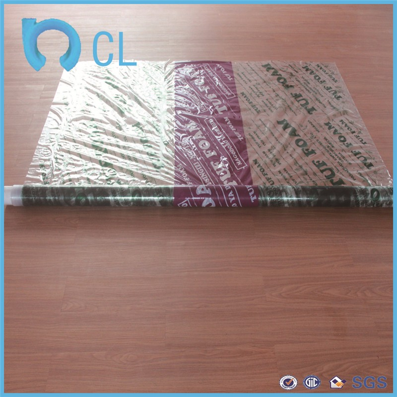Guangzhou supply normal clear Soft PVC plastic mattress film for surface protective pvc cling film