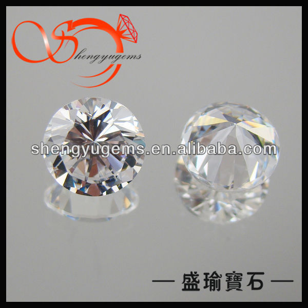 2015 good price round brilliant shape white cubic zirconia grade aaaaa CZRD00012