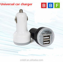 BBF Car Charger Adaptor Mini Bullet Dual USB 2-Port For iPhone 6 for , Samsung car charger HTC