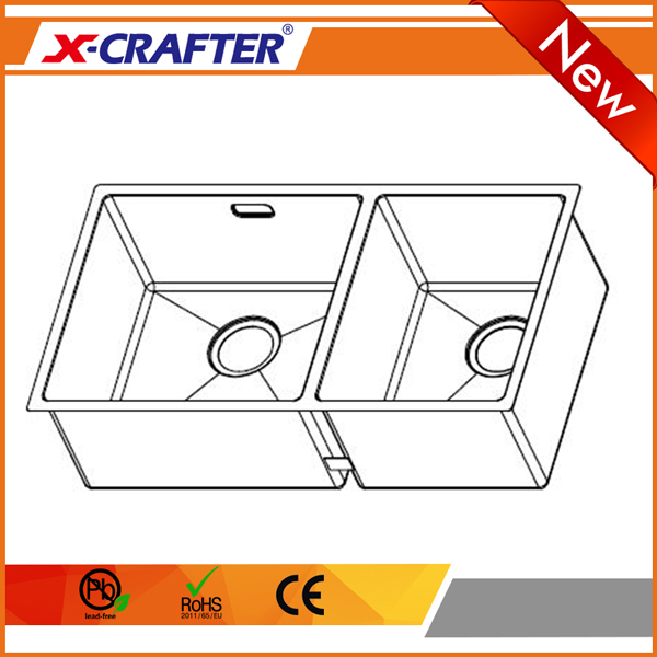Low harga wholesale stainless steel double bowl undermount <strong>kitchen</strong> with inserts laundry <strong>sink</strong>