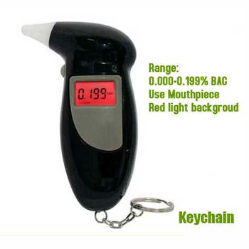 Daily use gadgets LCD display with mouthpieces alcohol tester