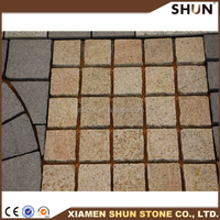 Granite Paver On Mesh, Granite pavers for driveways, Tumbled Granite pavers