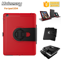 New Arrive Kids Proof Tablet Case for iPad 2/3/4 360 Rotating Cases and Covers for iPad Shockproof Case Cover