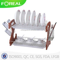 22 inches iron 2 layer dish drying rack