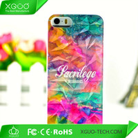 painting plastic protective 3D case for cover iphone 5