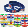2 Unisex Country Flag Rubber Silicone Wrist Band Elastic Bracelet Sport Team Soccer World Cup Cuff 2018