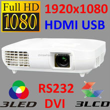 widescreen 150 200 300 inch full hd projector 1080p 2 HDMI inputs LCD LED Projector Beamer Proyector Projektor 1920x1080