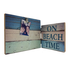 Beach decoration style multi photo frame different sizes photo folder wooden mdf framed art for custom cheap collage frame