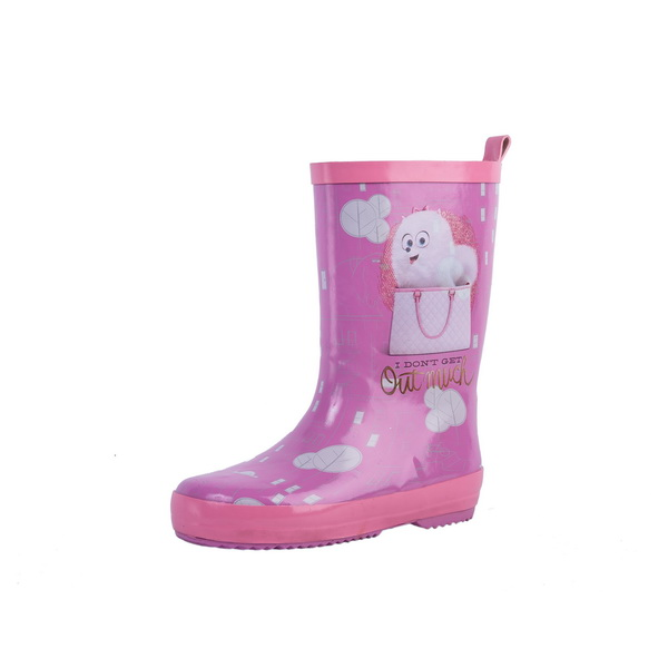 hot dog printed rubber rain boots for kids