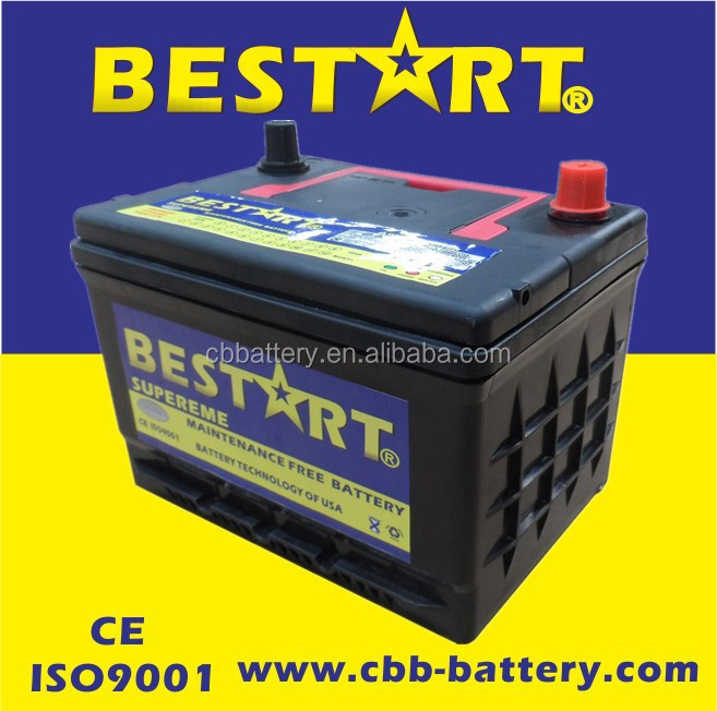 Factory price high quality car battery SMF 50ah 12V vehicle battery 58500-MF