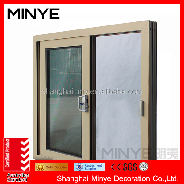 China factory price modern design aluminum sliding window grey color fashion style for home