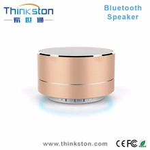 High Quality Mini Aluminum Bluetooth Speaker With LED light