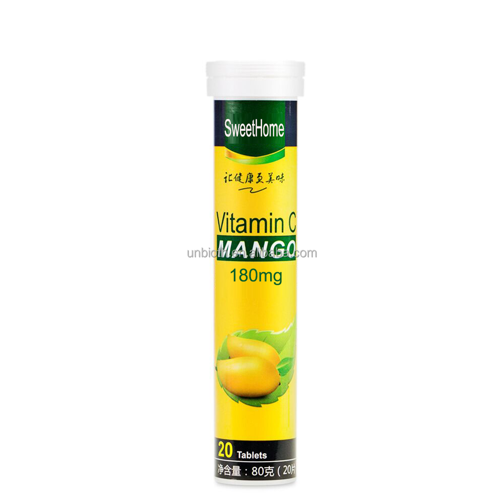 OEM health product 180mg Vitamin C Mango effervescent tablets Immune supplement drink