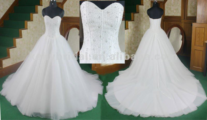 heavy beading dress 2012 wedding gown sample pictures