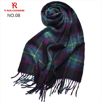 Inner Mongolia spot wholesale manufacturer of pure wool plaid scarves SWI0002men wool plaid scarves