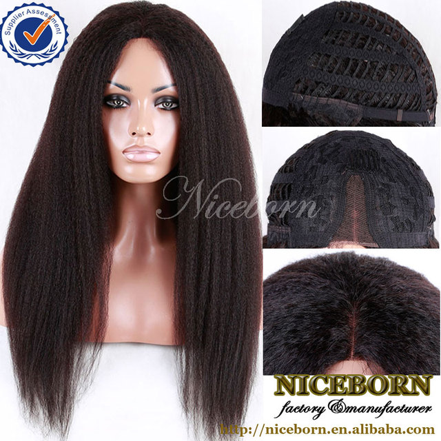 high quality cheap brazilian hair wig kinky curly human hair u part wig for black women